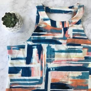 Anthropologie Deletta Isa Brush Strokes Tank